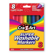 Cra-Z-Art Washable Classic Broadline Markers - 8 Count
