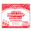 Cra-Z-Art Washable Broadline Markers Classroom Pack - 8 Colors - 200 Count