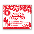 Cra-Z-Art Jumbo Crayons Classroom Pack - 8 Colors - 400 Count