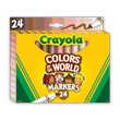 Crayola Colors of the World Broad Line Markers - 24 Count