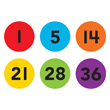 Spot On® Numbers 1-36 Floor Markers - 4""