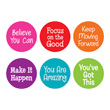 Spot On® Positive Sayings Carpet Markers - 7""