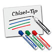 EAI® Education Dry-Erase Markers: Chisel Tip - Assorted Colors - Set of 4