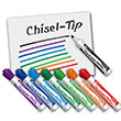 EAI® Education Dry-Erase Markers: Chisel Tip - Assorted Colors - Set of 8