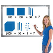Jumbo Magnetic QuietShape® Foam Base Ten: Blue - Set of 121