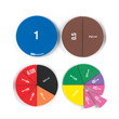 Jumbo Magnetic QuietShape® Foam Double-Sided Fraction/Decimal Circles