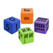 QuietShape® Foam Number Sense Dice: Multiple Representations 0-20 - Set of 16