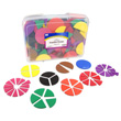QuietShape® Foam Fraction Circles: Blank - 15 Sets of 51 in Tub