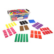 QuietShape® Foam Fraction Squares: Blank - 15 Sets of 51 in Tub