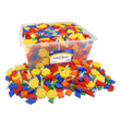 Pattern Blocks: Plastic 1 cm - Set of 1250