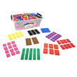 QuietShape® Foam Fraction Squares: Numbered - 15 Sets of 51 in tub