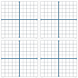 Magnetic X-Y Coordinate Grids - Set of 4