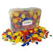 Pattern Blocks: Plastic 0.5 cm - Set of 1250