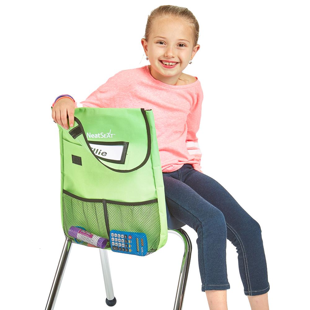 NeatSeat® Slide Classroom Chair Organizer: Set of 4 Small