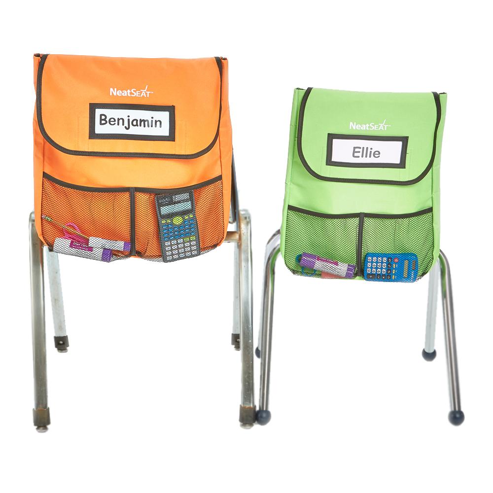 NeatSeat® Slide Classroom Chair Organizer: Set of 4 Large