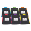 Book Pouches: Assorted Colors - Set of 6