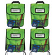 NeatSeat® Classroom Chair Organizer: Set of 4 - Lime Green