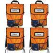 NeatSeat® Classroom Chair Organizer: Set of 4 - Orange
