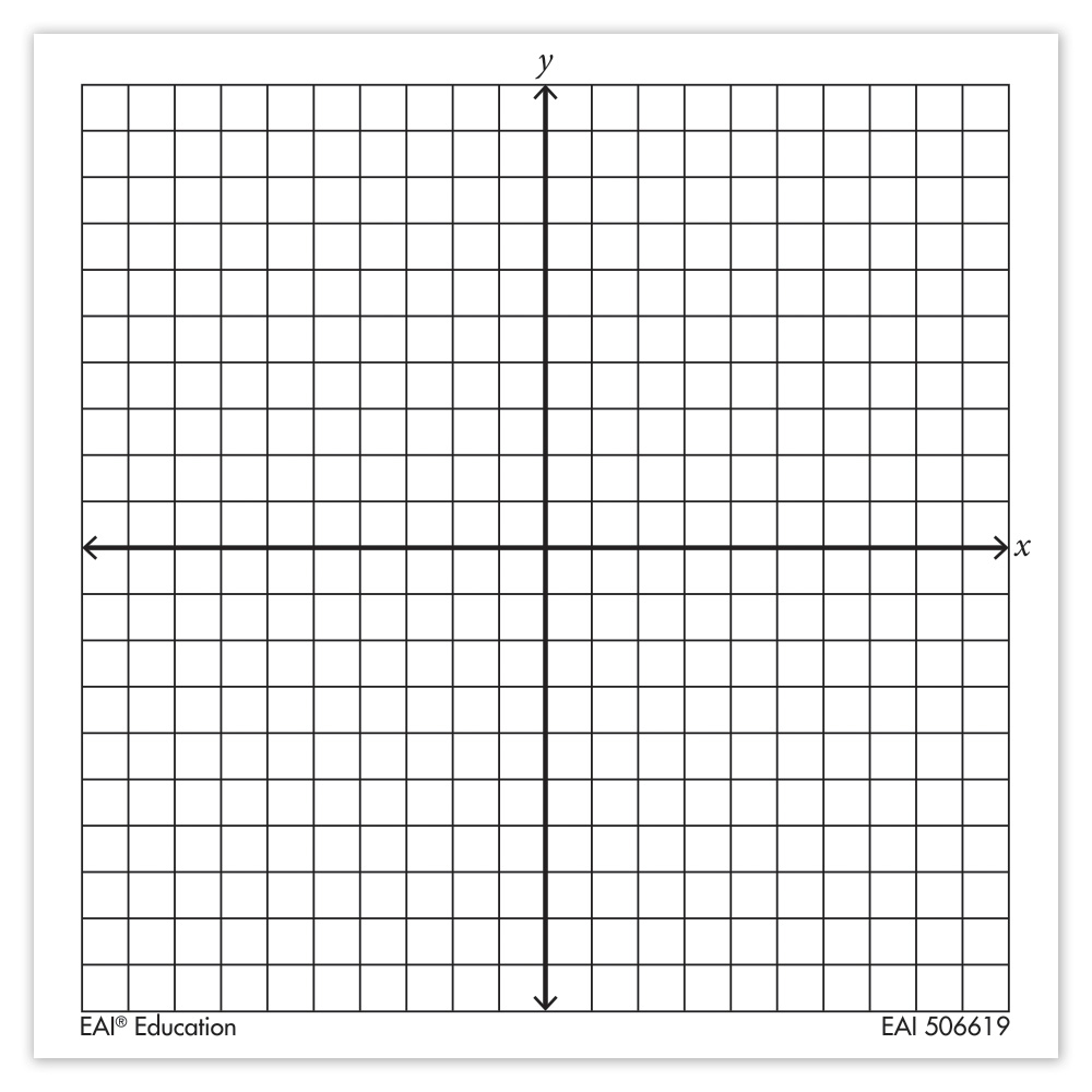 Graph Paper Sticky Note Pads, Accentuated XY Axis: Set Of