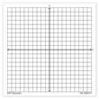 Graph Paper Sticky Note Pads, Accentuated XY Axis: Set of 4
