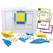Magnetic Visual Area Modeler Multiplication & Division Activity Set w/Magnetic Foam Base Ten