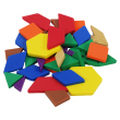 QuietShape® Foam Fraction Pattern Blocks, 0.5 cm - Set of 48