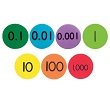 QuietShape® Foam Place Value Disks - Set of 140