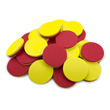 QuietShape® Foam Double-Sided Two-Color Counters: Red/Yellow - Set of 25