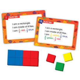 Color Tile Fraction Puzzles: Grades 3-4
