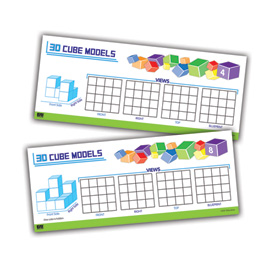 Advanced 3D Cube Models - Puzzle Cards: Grades 6-8