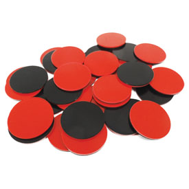 Two Color Counters - Red and Black: Set of 200