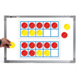 Jumbo Magnetic Ten Frame Set - Set of 2 with 20 Counters