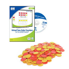 Two Color Counters - Set of 1600 with Virtual Manipulative