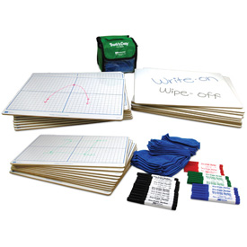 "X-Y Coordinate Grid Dry-Erase Boards: 11"" x 16"" Double-Sided Kit"