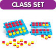 QuietShape® Foam Connecting Ten Frame Boards - Classroom Set of 24