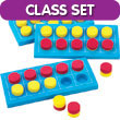 QuietShape® Foam Ten Frame Boards - Classroom Set of 24