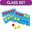QuietShape® Foam Connecting Five Frame Boards - Classroom Set of 24