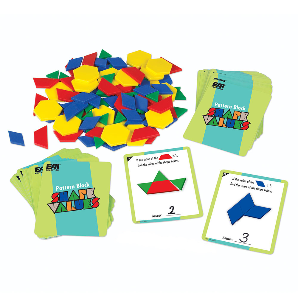 Pattern Block Fractions Custom Design