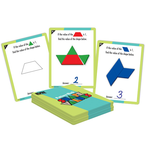 Pattern Block Shape Values: Grades 3-4 - Cards Only