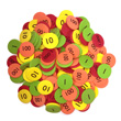 QuietShape® Place Value Disks Ones to Thousands: Set of 160