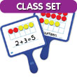 Magnetic Ten Frame Double-Sided Dry-Erase Paddles Classroom Set