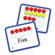 Magnetic Ten Frame Dry-Erase Double-Sided Boards: Set of 10