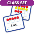 Magnetic Ten Frame Dry-Erase Double-Sided Boards Classroom Set