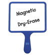 Magnetic Blank Dry-Erase Paddles - Set of 5