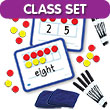Magnetic Ten Frame & Part-Part-Whole Dry-Erase Boards - Classroom Set