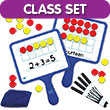 Magnetic Ten Frame Dry-Erase Paddles - Classroom Set