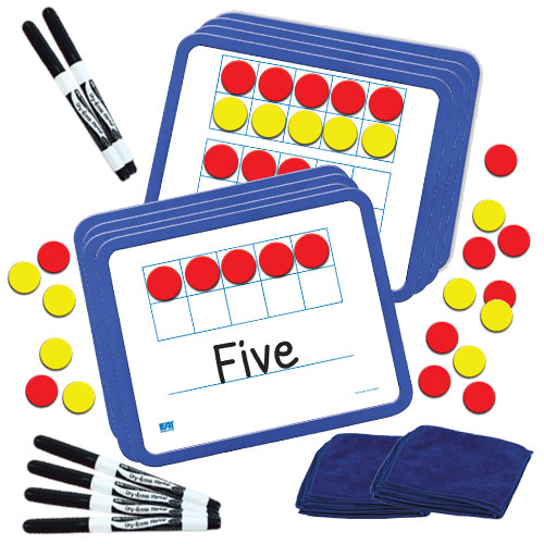 Magnetic Ten Frame Dry-Erase Boards - Classroom Set - Operations ...