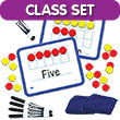 Magnetic Ten Frame Dry-Erase Boards - Classroom Set