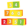 EAI® Place Value Strips - Ones to Thousands: 10 Student Sets