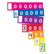 EAI® Education Place Value Expanded Notation Strips - Ones to Millions: 10 Student Sets